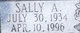 Sally Ann <I>Baker</I> Allen