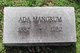 Profile photo:  Ada A. <I>Yochum</I> Mangrum
