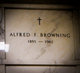 Profile photo:  Alfred F Browning