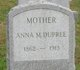 Profile photo:  Anna M Dupree