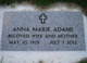 Profile photo:  Anna Marie Adams