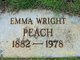 Profile photo:  Emma <I>Wright</I> Peach