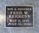 Fred W Behrens