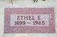 Profile photo:  Ethel E. Bartholow