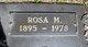 Rosa <I>Marks</I> Sturgill