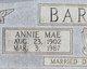 Profile photo:  Annie Mae <I>Eidson</I> Barnes