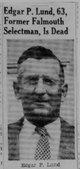 Edgar P Lund