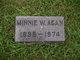 Minnie W. <I>Dunham</I> Agan