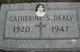 Catherine S <I>Lang</I> Dealy
