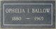 Profile photo:  Ophelia <I>Reeves</I> Ballow