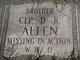 Profile photo: Corp D. R. Allen