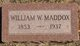 William Washington Maddox, Jr