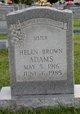 Profile photo:  Helen Frances <I>Brown</I> Adams
