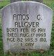 Profile photo:  Amos G. Allgyer