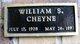 William S Cheyne