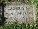 Cassius M Van Norman
