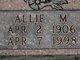 Profile photo:  Allie M. <I>Monie</I> Sitze