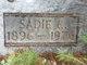 Sadie Esther <I>Smith</I> Brown