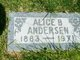Profile photo:  Alice Daisy <I>Brain</I> Anderson