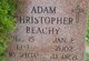 Profile photo:  Adam Christopher Beachy