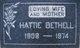 Profile photo:  Hattie Edna <I>Farmer</I> Bethell