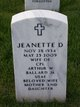 Jeanette D. <I>Franke</I> Ballard