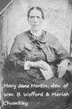 Mary Jane <I>Wofford</I> Martin