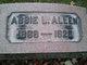 Profile photo:  Abbie Lorain <I>Gano</I> Allen
