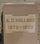 Profile photo:  A. D. Hallman