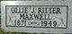Ollie Jane <I>Ritter</I> Maxwell