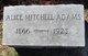 Alice <I>Mitchell</I> Adams