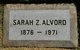 Profile photo:  Sarah Z <I>Johnson</I> Alvord