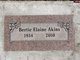 Profile photo:  Bertie Elaine <I>Hall</I> Akins