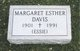 Profile photo:  Margaret Esther Davis