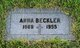 Anna <I>O'Connor</I> Beckler