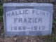 "Profile photo:  Harriet Lavinia ""Hallie"" <I>Flint</I> Frazier"