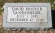 Profile photo:  David Hoover Vanderburg