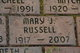 """Mary Jane """"M.J."""" <I>Stahl</I> Russell"""
