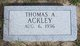Thomas A Ackley
