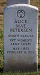 Profile photo:  Alice Mae Petersen