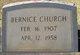 Profile photo:  Bernice Church