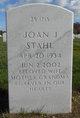 Profile photo:  Joan J. Stahl