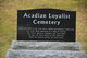 Acadian Loyalist Cemetery