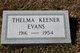 Thelma Louise <I>Keener</I> Evans