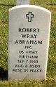 PFC Robert Wray Abraham