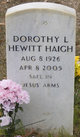 Profile photo: Mrs Dorothy Louise <I>Hewitt</I> Haigh