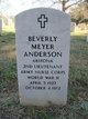 Beverly <I>Meyer</I> Anderson