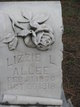 Lizzie Louise <I>Goff</I> Allee