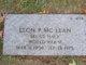 Leon P McLean