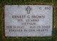 "Profile photo:  Ernest ""Ernie"" Brown"